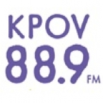 Logo da emissora KPOV 88.9 FM