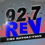Logo da emissora KREV 92.7 FM Rev
