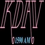 Logo da emissora KDAV 1590 AM