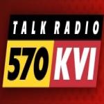 Logo da emissora KVI 570 AM