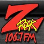 Logo da emissora KRQR 106.7 FM Z Rock