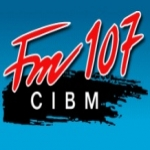 Logo da emissora Radio CIBM 107.1 FM