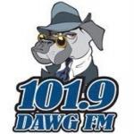 Logo da emissora Radio Dawg 101.9 FM