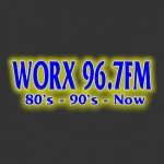 Logo da emissora WORX 96.7 FM