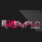 Logo da emissora Rádio Exemplo