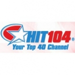 Logo da emissora HIT 104.0 FM