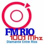 Logo da emissora Radio Río 100.1 FM