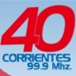 Logo da emissora Radio Cuarenta 99.9 FM