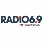Logo da emissora Radio Universidad 106.9 FM