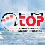 Logo da emissora Radio Top 107.1 FM