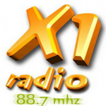Logo da emissora Radio X1 88.7 FM