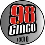 Logo da emissora Radio 98 Cinco 98.5 FM