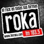 Logo da emissora Radio Roka 103.5 FM