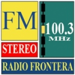 Logo da emissora Radio Frontera 100.3 FM