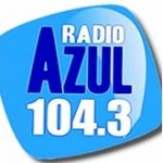 Logo da emissora Radio Azul 104.3 FM