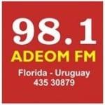 Logo da emissora Radio Adeom 98.1 FM