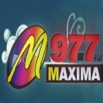 Logo da emissora Radio Maxima 97.7 FM