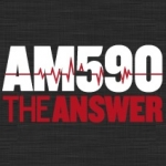 Logo da emissora KTIE 590 AM The Answer