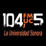 Logo da emissora Radio Universitaria 104.5 FM