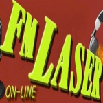 Logo da emissora Radio Laser Rio Mayo 98.1 FM