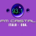 Logo da emissora Radio Cristal 93.1 FM