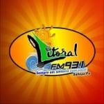 Logo da emissora R�dio Litoral 93.1 FM