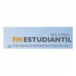 Logo da emissora Radio Estudiantil 104.3 FM