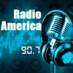 Logo da emissora Radio América 90.7 FM