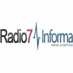 Logo da emissora Radio 7 104.5 FM