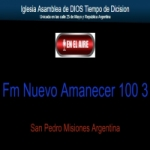 Logo da emissora Radio Nuevo Amanecer 100.3 FM