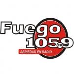 Logo da emissora Radio Fuego 105.9 FM