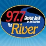 Logo da emissora KVRV 97.7 FM The River