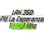 Logo da emissora Radio La Esperanza 100.1 FM