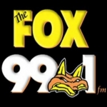 Logo da emissora KXFM 99.1 FM The Fox