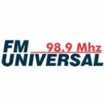 Logo da emissora Radio Universal 98.9 FM