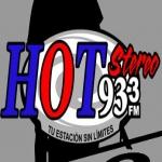 Logo da emissora Hot Stereo 93.3 FM