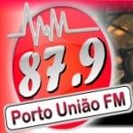 Logo da emissora R�dio Porto Uni�o 87.9 FM