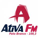 Logo da emissora R�dio Ativa 100.3 FM