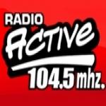 Logo da emissora Radio Active 104.5 FM