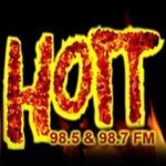 Logo da emissora Radio Hott 98.7 FM