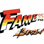 Logo da emissora Radio Fame 95.7 FM