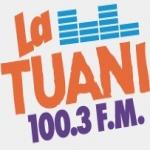 Logo da emissora La Tuani 100.3 FM