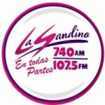 Logo da emissora Radio La Sandino 740 AM 107.5 FM