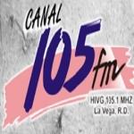 Logo da emissora Canal 105.1 FM