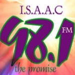 Logo da emissora Isaac 98.1 FM
