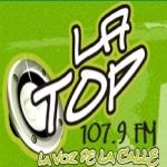 Logo da emissora La Top 107.9 FM