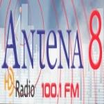 Logo da emissora Radio Antena 8 100.1 FM