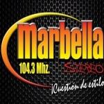 Logo da emissora Marbella Stereo 104.3 FM