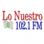 Logo da emissora Lo Nuestro 102.1 FM
