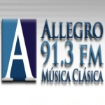 Logo da emissora Allegro 91.3 FM